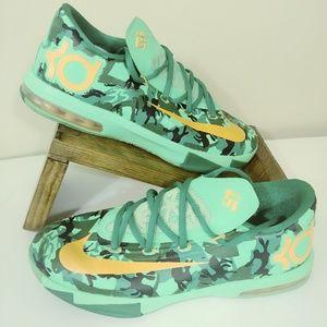 Nike KD VI GS Low Top Camo Easter Green Atomic